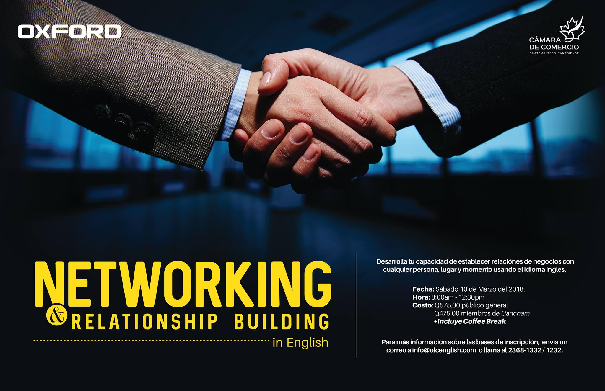 Invitación taller Networking in English